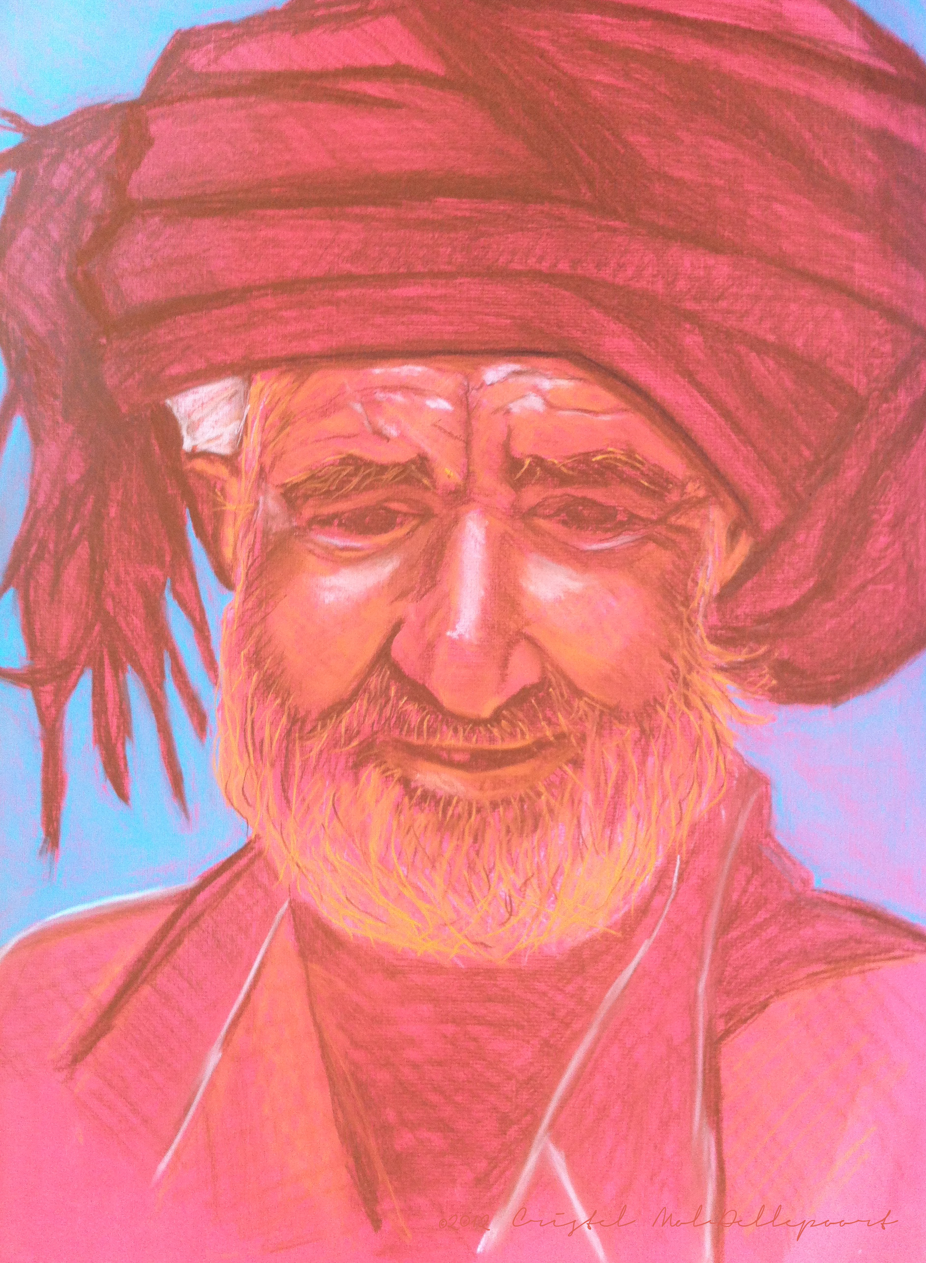 Afghan Man pastel CMD