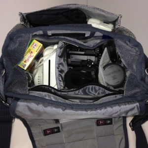 Cristel's camera bag