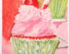 Cherry Limeade Cupcake