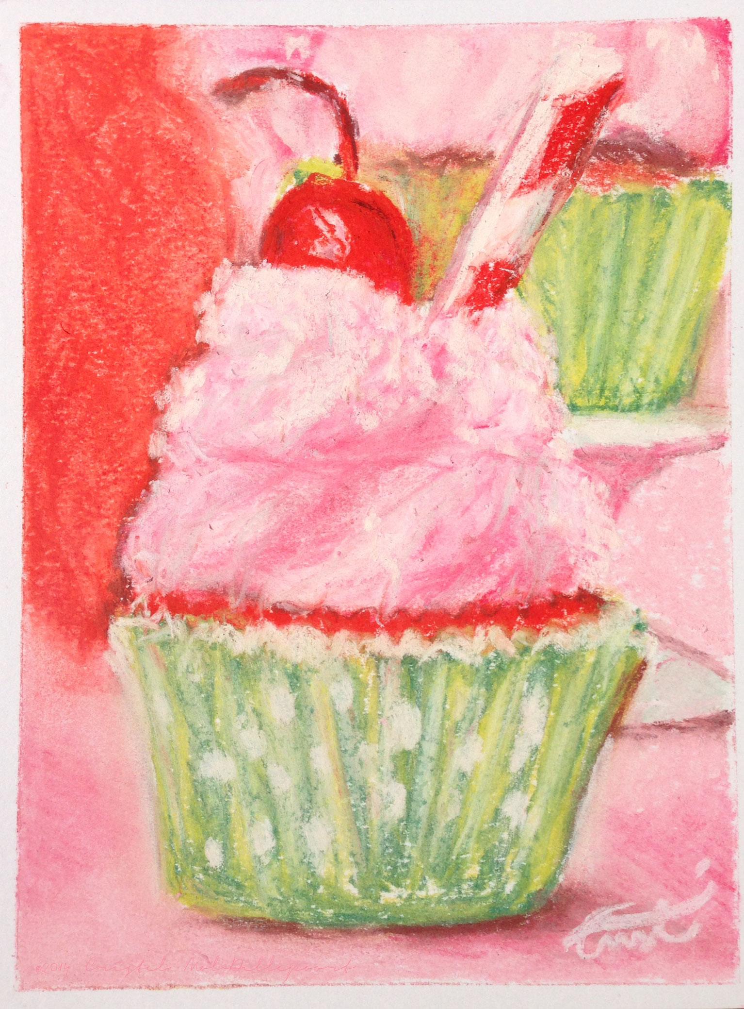 Cherry Limeade Cupcake | Cristel Mol-Dellepoort – Pastel Artist