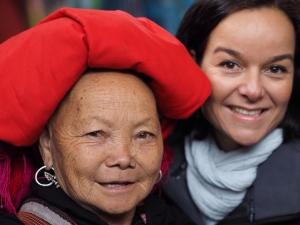 Cristel with a Red Hmong Lady.