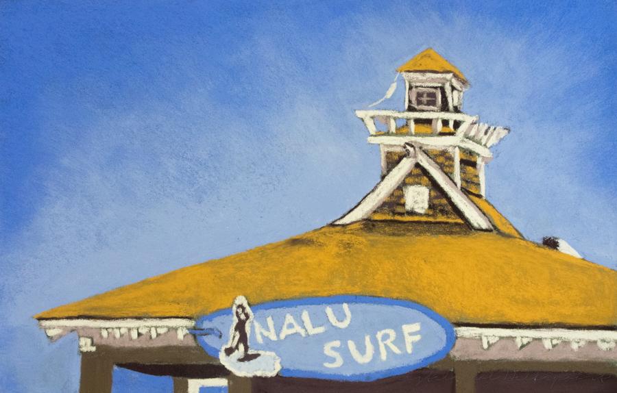 Nalu Surf Shack Original Pastel Painting CMD