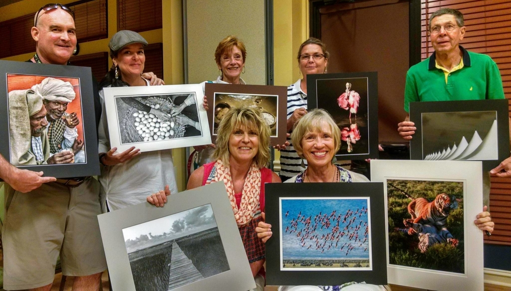 Some of the Beaufort Club winners at the 2015 Tri-Club Competition. From left to right: Brad Mol, Cristel Mol-Dellepoort, Karen Norwood, Lynn Long, Lamar Nix, Janet Harter Garrity, Joan Eckhardt.